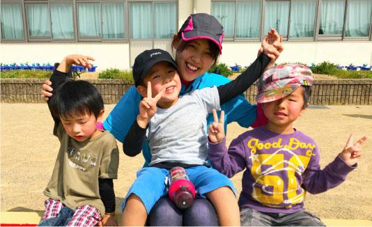 子どもが大好きで運動が大好きな指導員